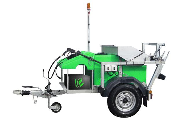 battery powered wheelie bin washer