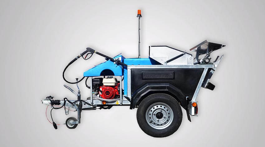 Petrol Powered Wheelie Bin Wash Custom Plus Bin Cleaning machine
