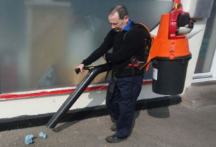 Litter collection vacuum cleaner