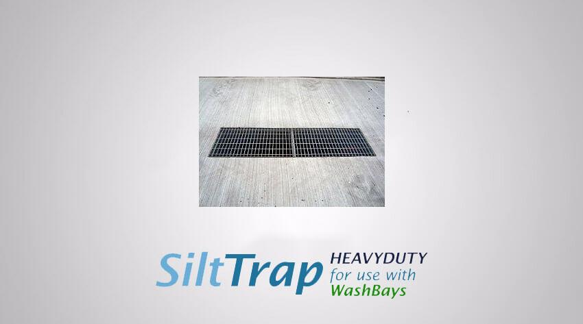 Heavyduty silt traps for wash bays