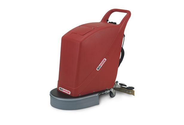 Compact and lightweight pedestrian scrubber dryer 400mm brush width
