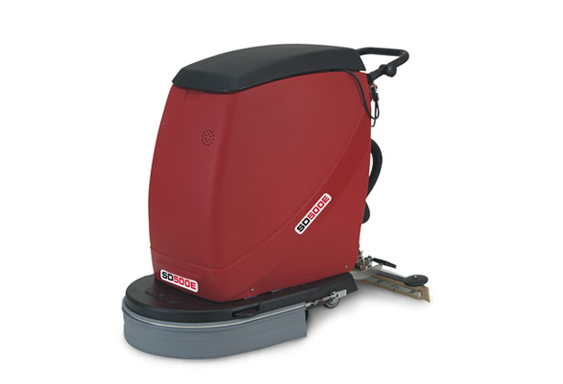 The MSD500E, a robust commercial electric pedestrian scrubber dryer