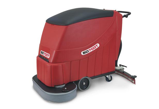 Traction Drive Industrial Pedestrian Scrubber Dryer 700mm Scrubbing Width