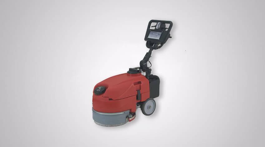 compact pedestrian scrubber dryer