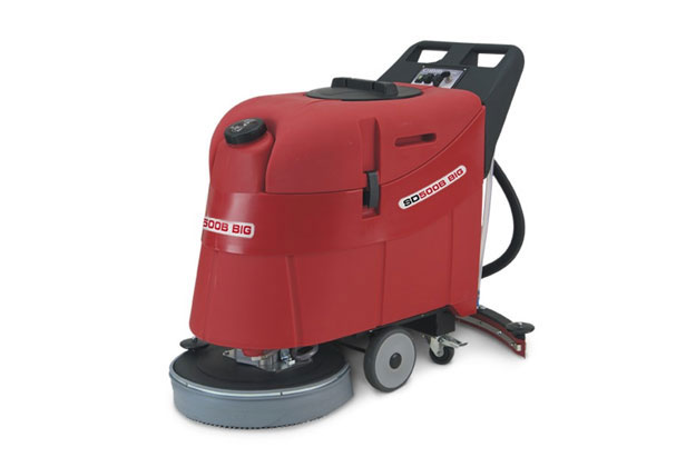 Commercial , brush- assisted traction high performance walk behind scrubber dryer