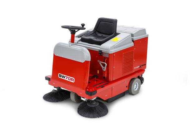 Medium ride on floor sweeper