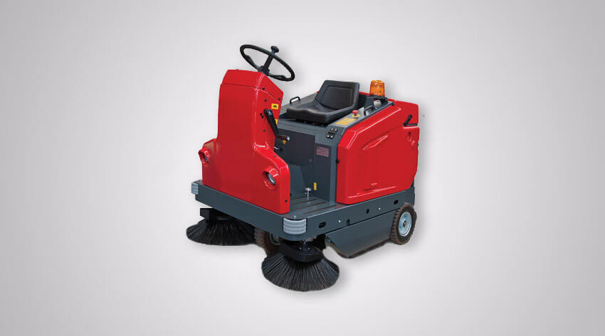 heavy duty ride on floor sweeper