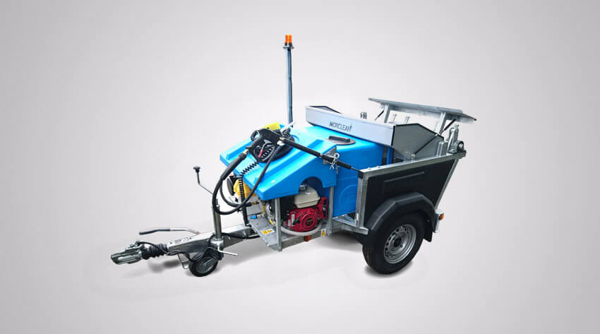 wheelie bin cleaning machine