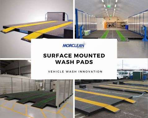 Surface mounted wash pads
